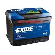 Аккумулятор EXIDE Excell 74Ah 680A
