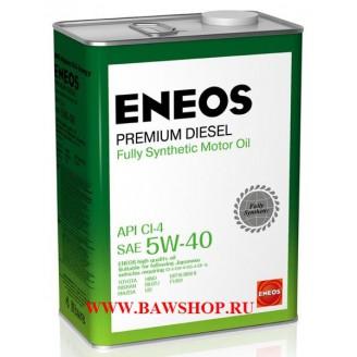 Масло моторное ENEOS Premium Diesel CI-4 синтетика 5W-40 4л 8809478943077