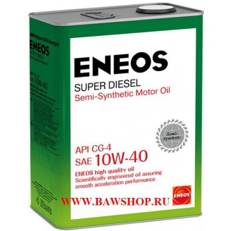 Масло моторное ENEOS Super Diesel CG-4 п\синт 10W40 4л oil1328