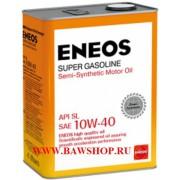 Масло моторное ENEOS Super Gasoline SL п\синт 10W40 4л oil1357